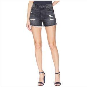 NWT Hudson Lace Up Cut Off SADE Distressed Shorts